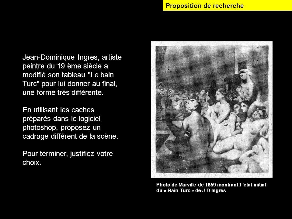 Jean-Dominique Ingres, artiste peintre du 19 ème siècle a modifié son tableau