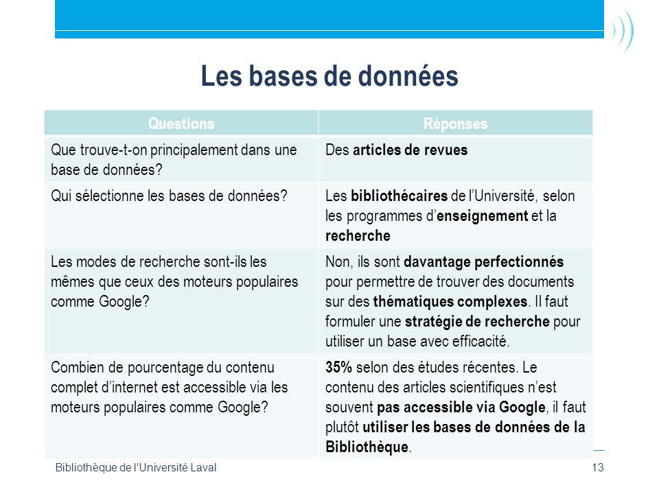 Les bases de données QuestionsRéponses Que trouve-t-on principalement dans une base de données.