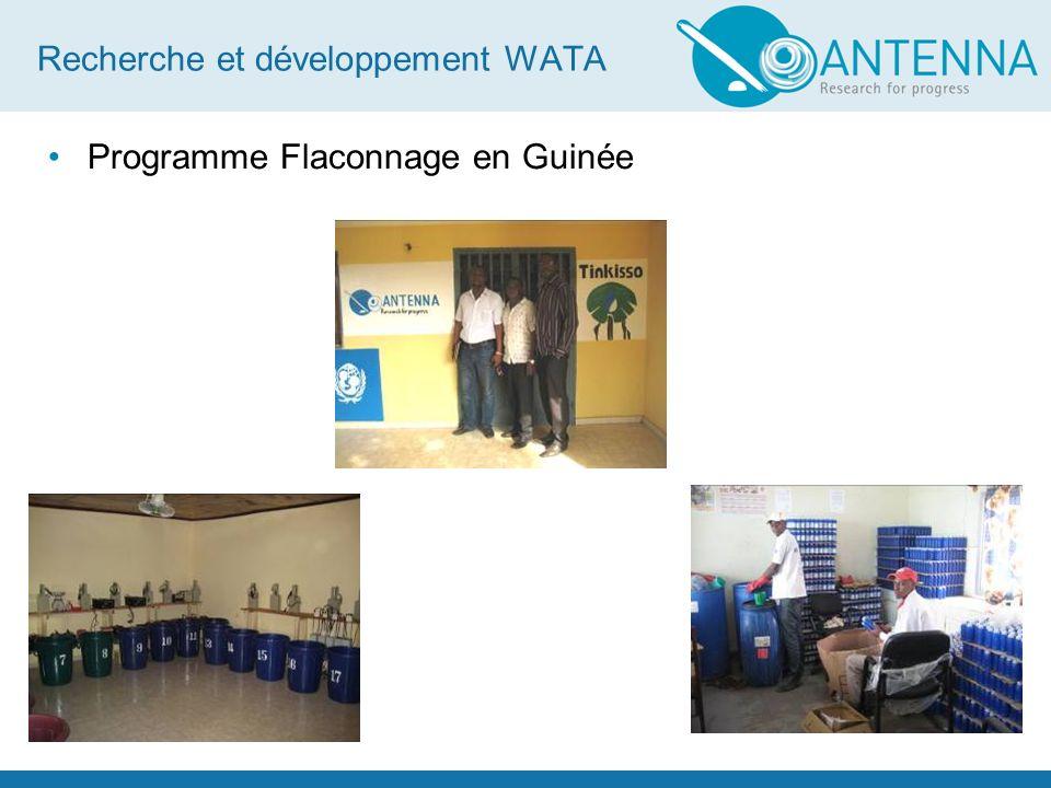 Recherche et développement WATA Programme Flaconnage en Guinée