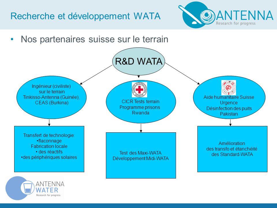 Recherche et développement WATA Nos partenaires suisse sur le terrain CICR Tests terrain Programme prisons Rwanda R&D WATA Aide humanitaire Suisse Urg