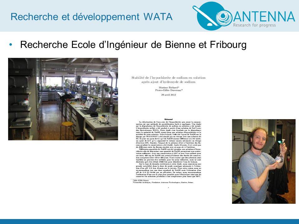 Recherche et développement WATA Test des WATA pour certification fédérale