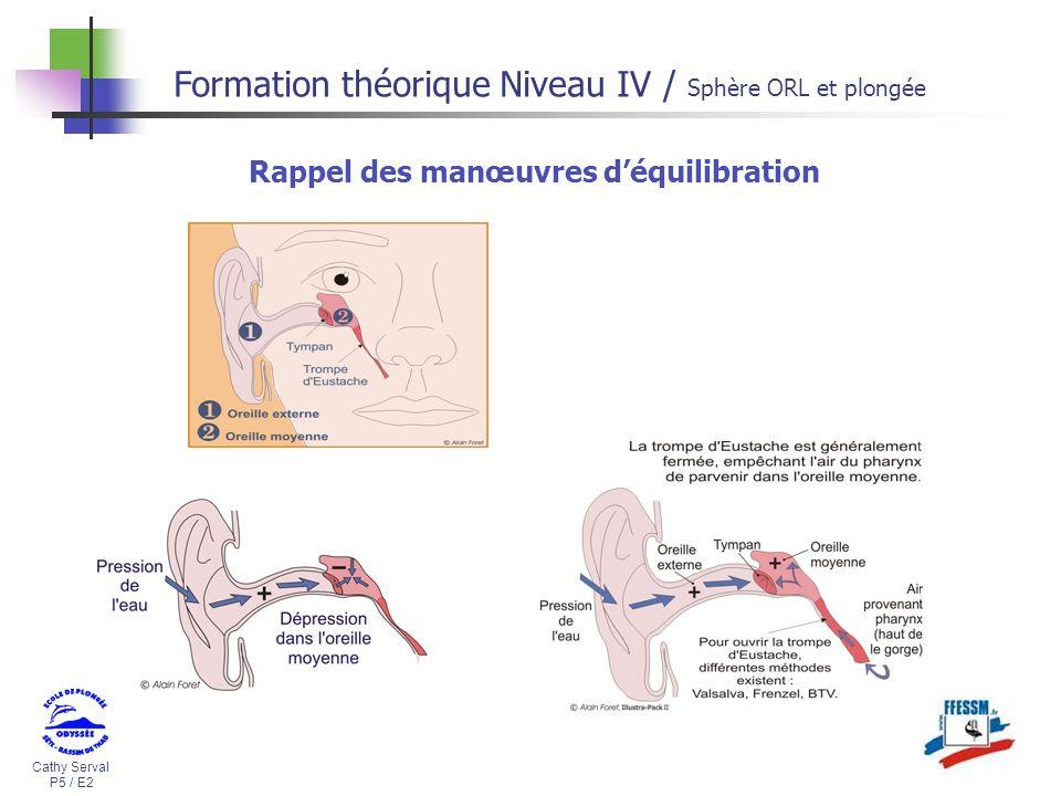 Cathy Serval P5 / E2 Formation théorique Niveau IV / Sphère ORL et plongée Rappel des manœuvres déquilibration
