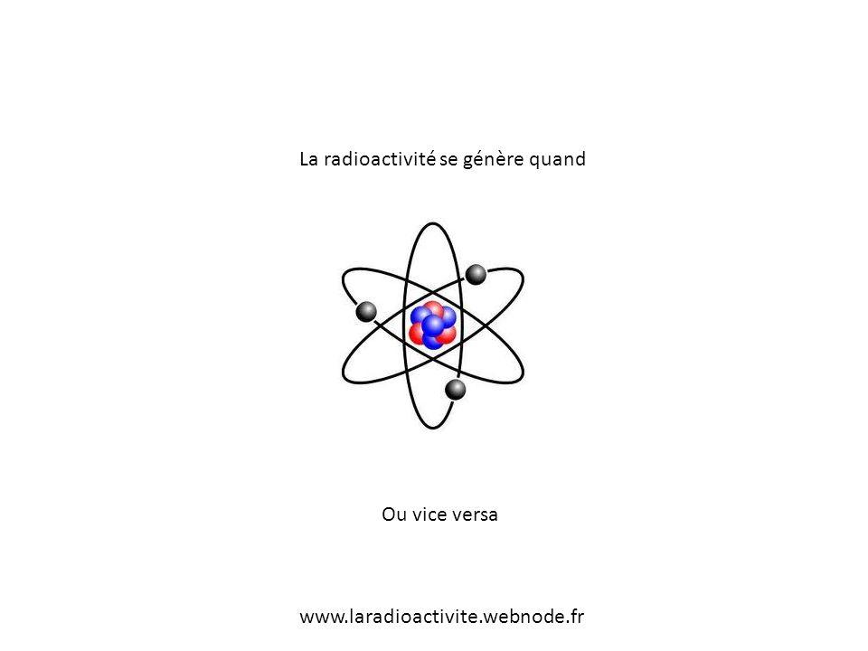La radioactivité se génère quand Ou vice versa www.laradioactivite.webnode.fr