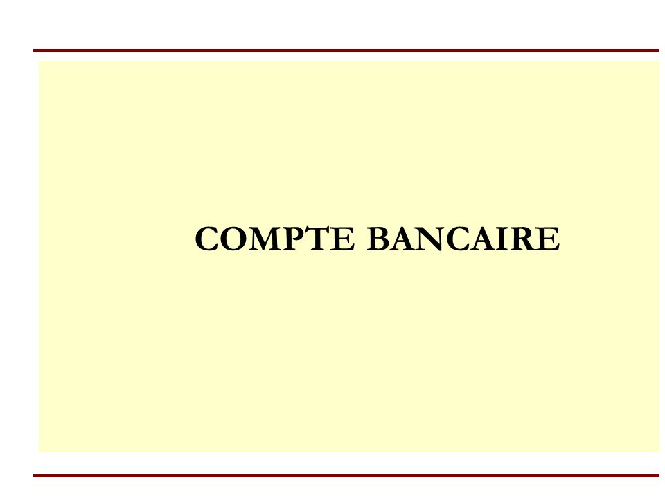 4 A/ Le compte (art.