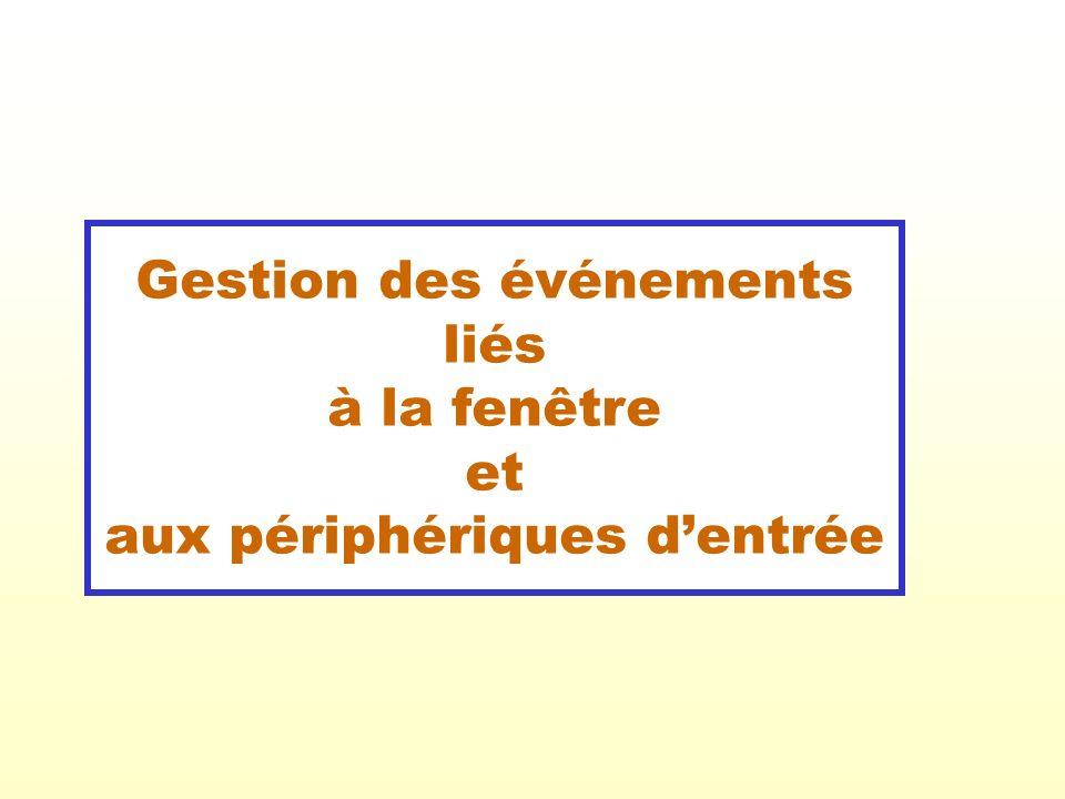 22 Exemple VII : Reprise de lexemple IV où un menu principal est ajouté en lien avec le bouton droit de la souris.