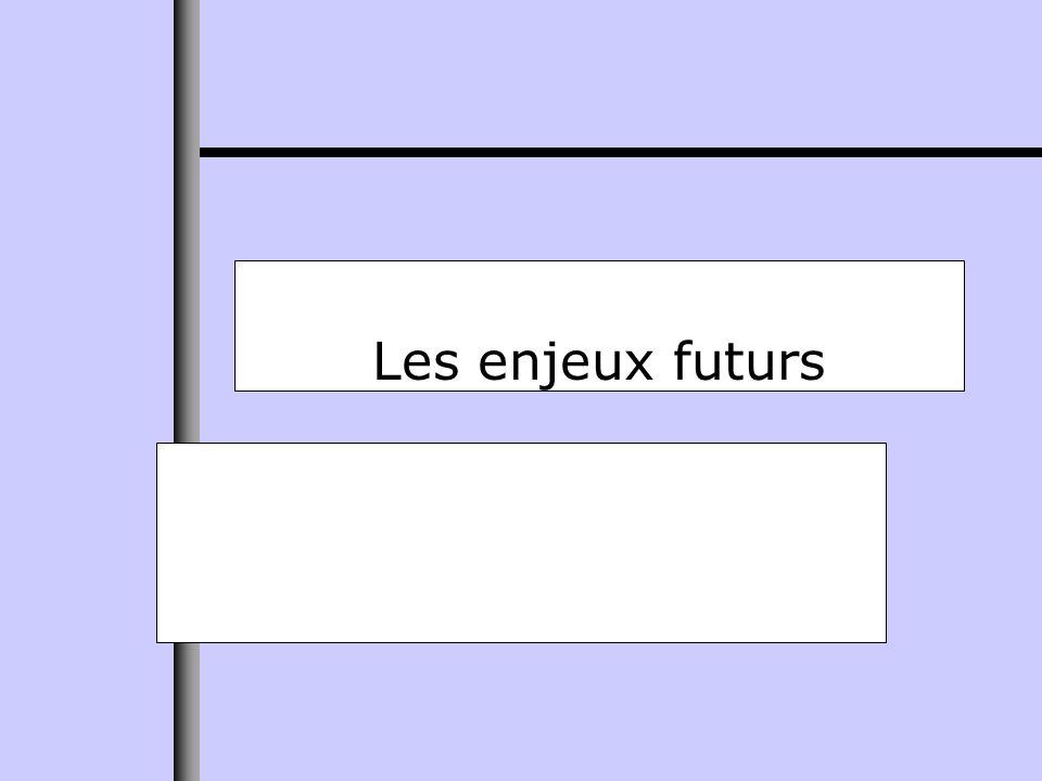 Les enjeux futurs
