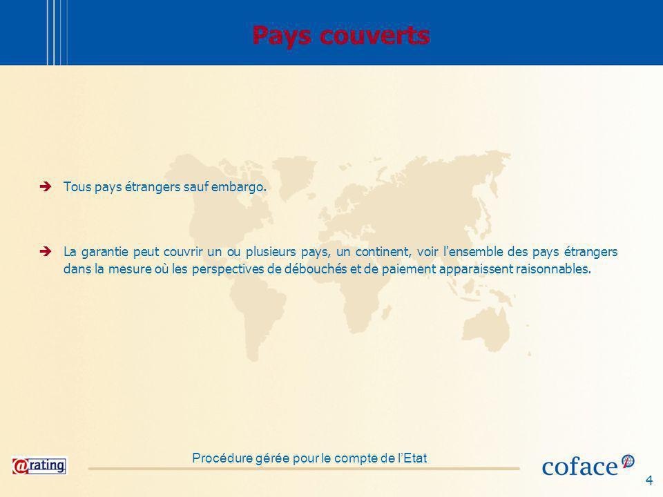 4 Pays couverts Tous pays étrangers sauf embargo.