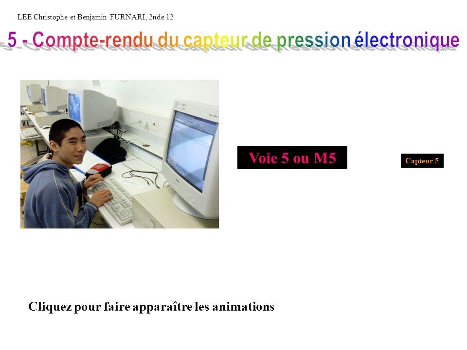 LEE Christophe et Benjamin FURNARI, 2nde 12 Capteur 5 Voie 5 ou M5 Cliquez pour faire apparaître les animations