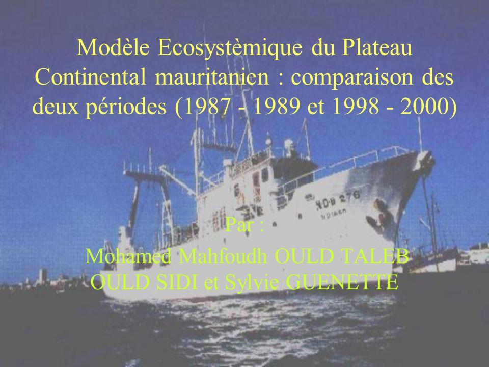 Modèle Ecosystèmique du Plateau Continental mauritanien : comparaison des deux périodes (1987 - 1989 et 1998 - 2000) Par : Mohamed Mahfoudh OULD TALEB