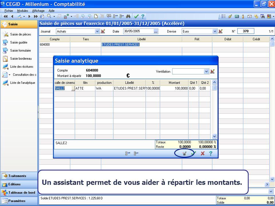 Août 2007 Un assistant permet de vous aider à répartir les montants.