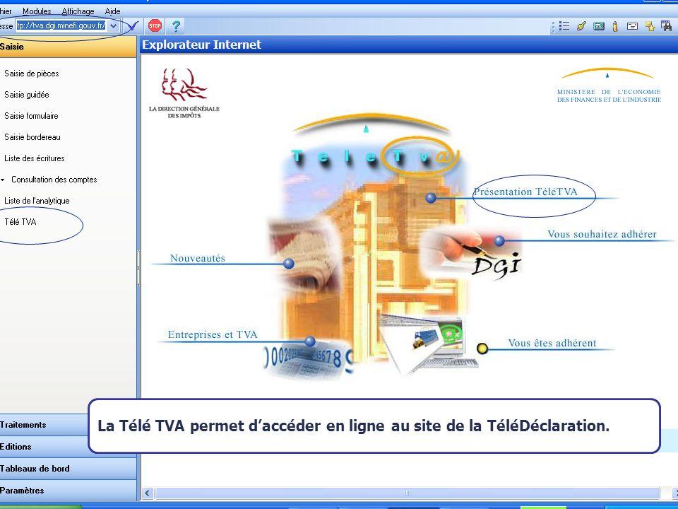Août 2007 KICK OFF Le paramétrage du modèle La Télé TVA permet daccéder en ligne au site de la TéléDéclaration.