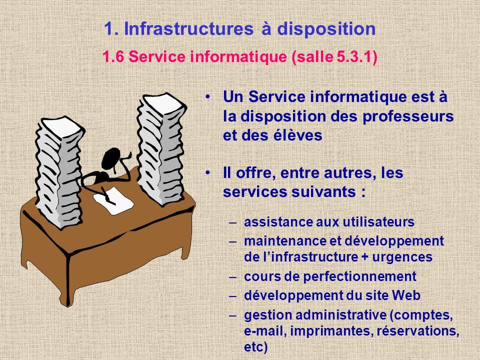1. Infrastructures à disposition Des embouteillages et des coupures de réseau peuvent se produire Tous les protocoles ne sont pas acceptés (certains s