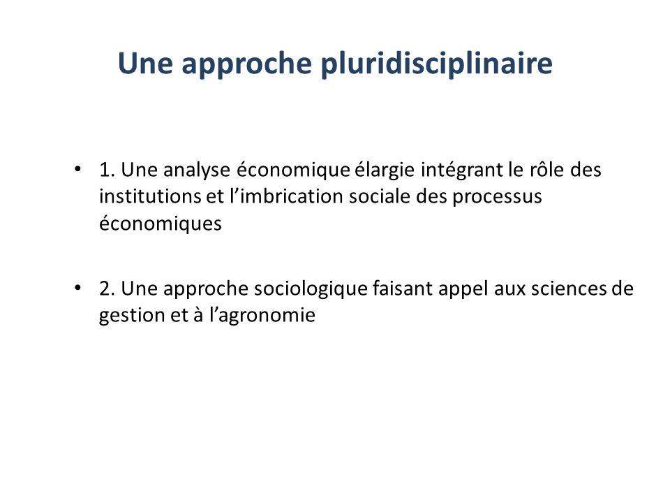 Une approche pluridisciplinaire 1.