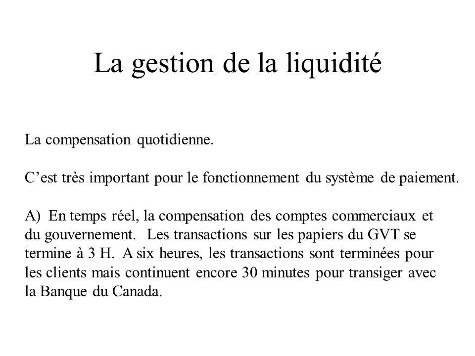 La gestion de la liquidité B) Si le solde dune IF est positif, il y aura une avance au taux de base moins 50 points de base.