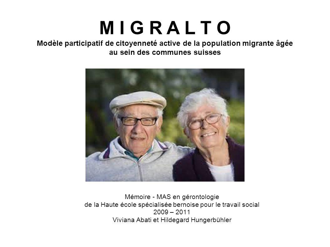 Idée de recherche La présente recherche avait pour but de déterminer si et comment les migrantes et migrants du 3 e âge participent dans le cadre de leur espace de vie, c.-à-d.