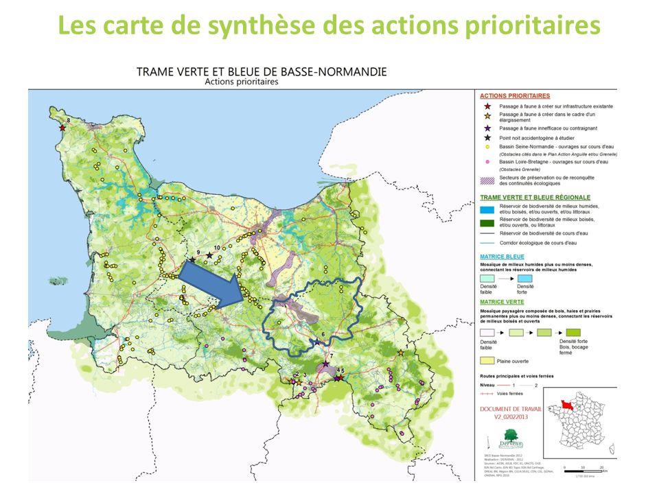 Les carte de synthèse des actions prioritaires