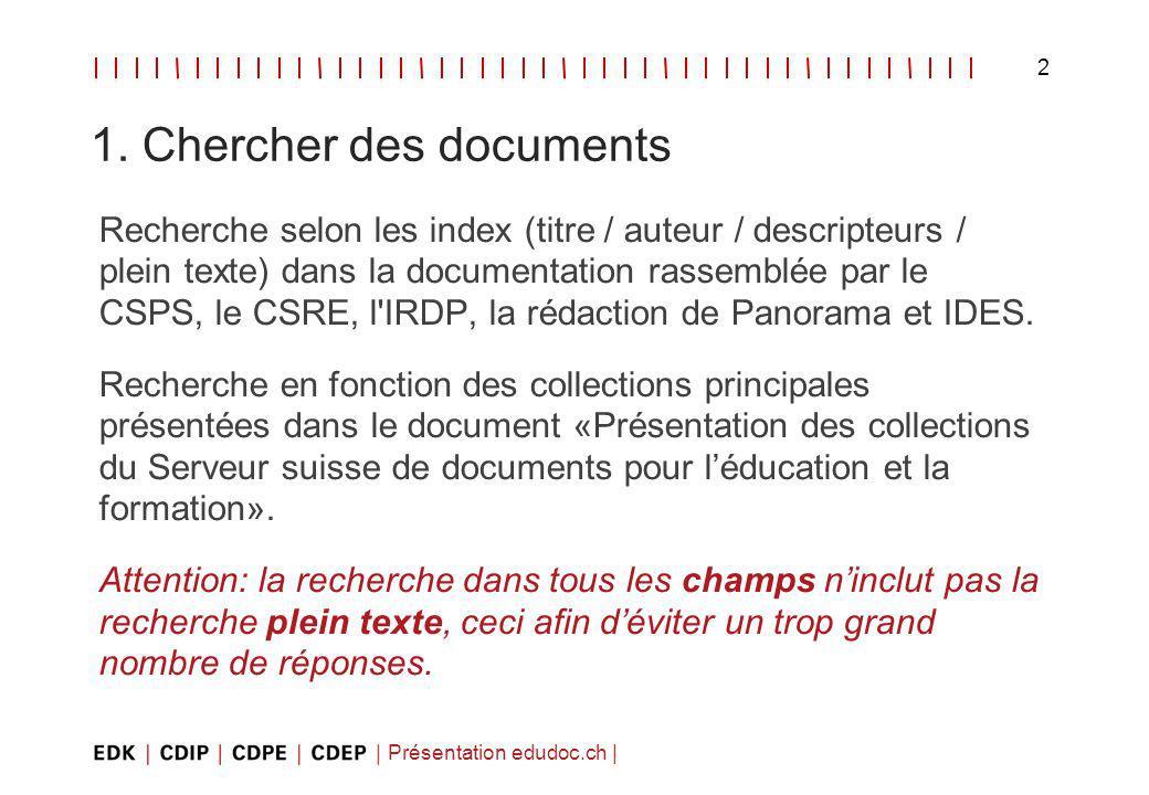 Présentation edudoc.ch | 2 1.