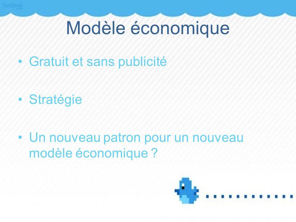 Modèle économique Gratuit et sans publicité Stratégie Un nouveau patron pour un nouveau modèle économique ?