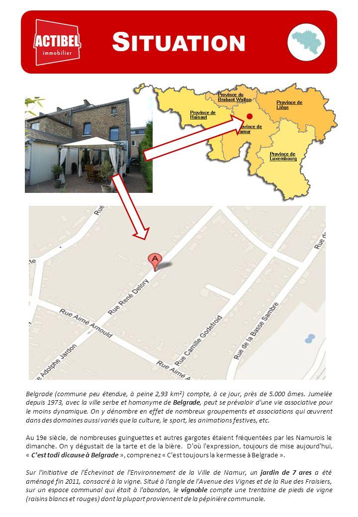 Belgrade (commune peu étendue, à peine 2,93 km 2 ) compte, à ce jour, près de 5.000 âmes.