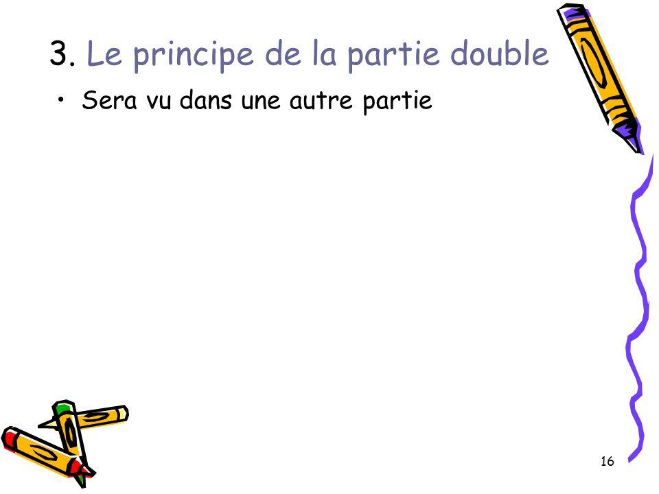 16 3. Le principe de la partie double Sera vu dans une autre partie