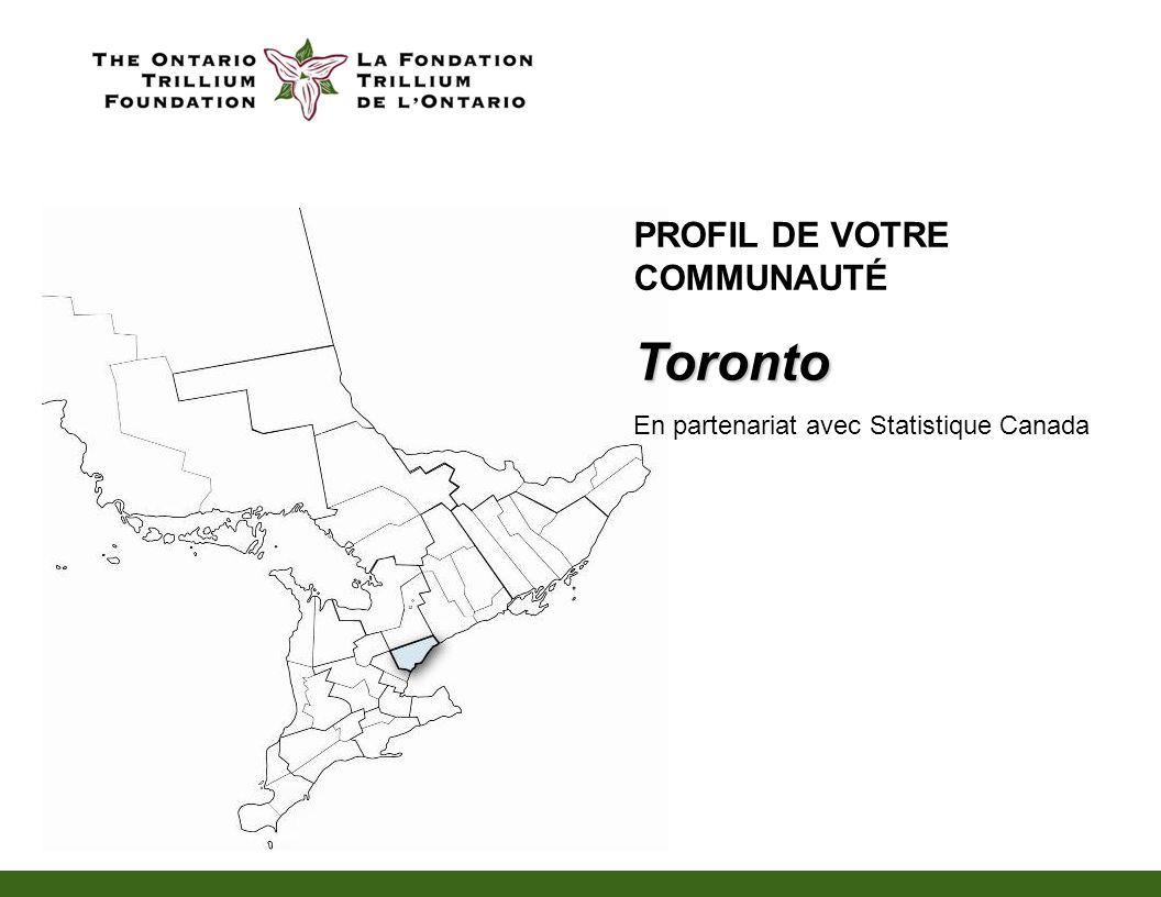 PROFIL DE VOTRE COMMUNAUTÉToronto En partenariat avec Statistique Canada