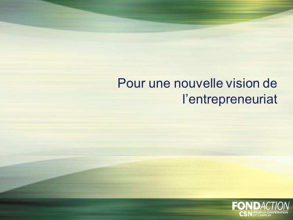 Pour une nouvelle vision de lentrepreneuriat