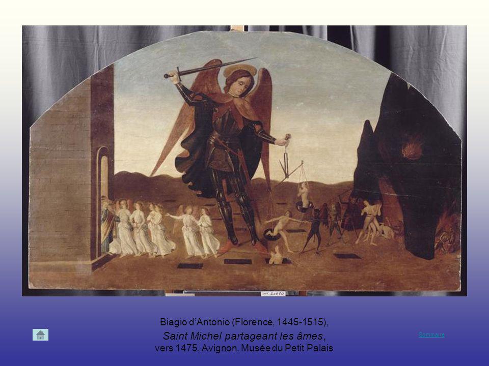 Biagio dAntonio (Florence, 1445-1515), Saint Michel partageant les âmes, vers 1475, Avignon, Musée du Petit Palais Sommaire