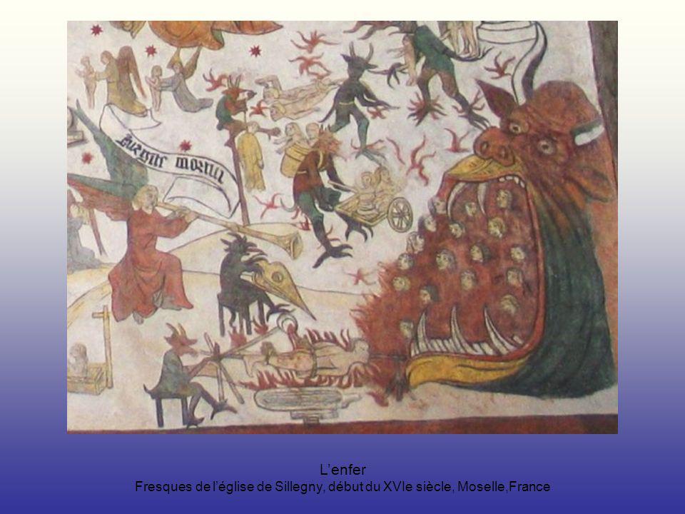 Lenfer Fresques de léglise de Sillegny, début du XVIe siècle, Moselle,France