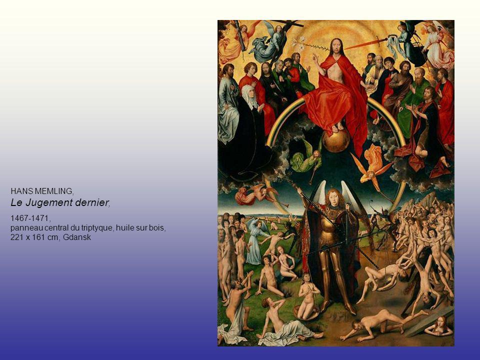 HANS MEMLING, Le Jugement dernier, 1467-1471, panneau central du triptyque, huile sur bois, 221 x 161 cm, Gdansk