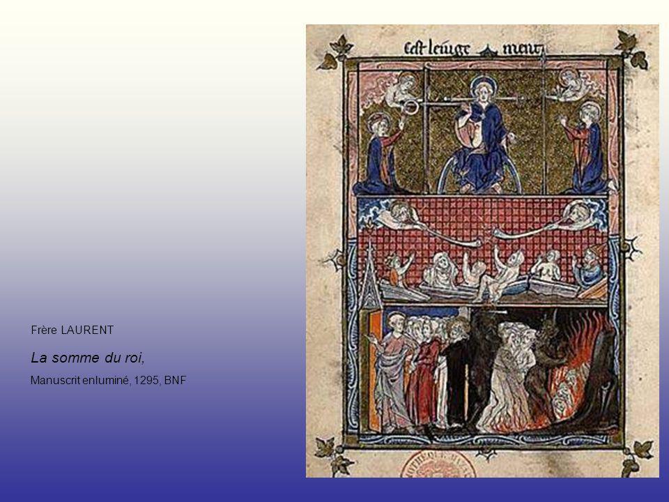 Frère LAURENT La somme du roi, Manuscrit enluminé, 1295, BNF