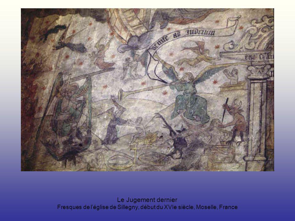Le Jugement dernier Fresques de léglise de Sillegny, début du XVIe siècle, Moselle, France
