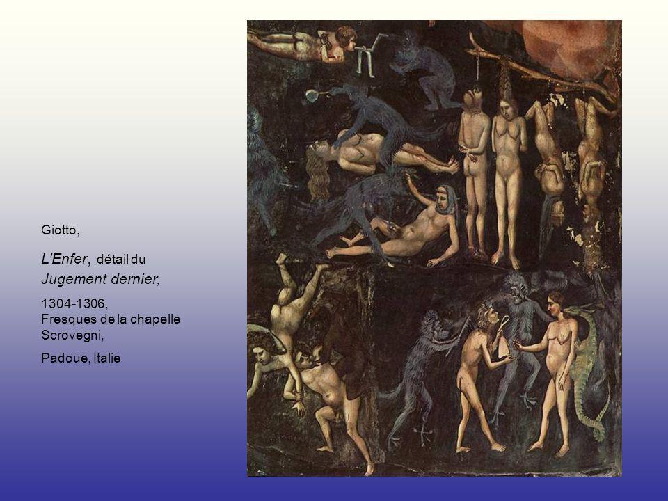 Giotto, LEnfer, détail du Jugement dernier, 1304-1306, Fresques de la chapelle Scrovegni, Padoue, Italie
