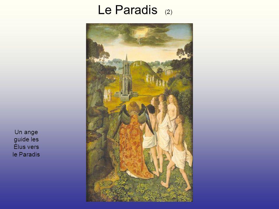 Le Paradis (2) Un ange guide les Élus vers le Paradis