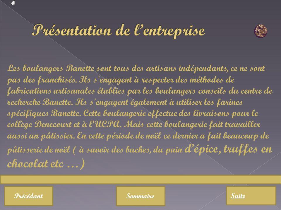 Sommaire Suite Précédant Les boulangers Banette sont tous des artisans indépendants, ce ne sont pas des franchisés. Ils s'engagent à respecter des mét