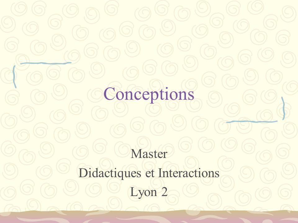 Conceptions Master Didactiques et Interactions Lyon 2