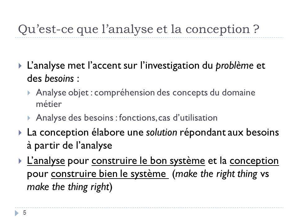 Quest-ce que lanalyse et la conception orienté objet (A/COO) .