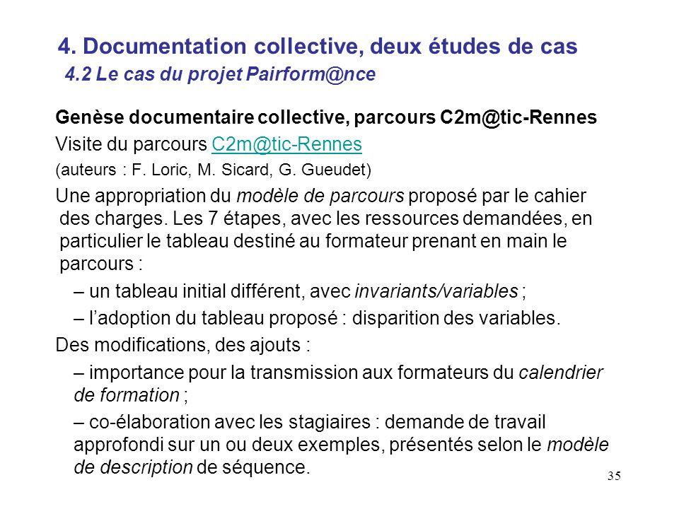 35 Genèse documentaire collective, parcours C2m@tic-Rennes Visite du parcours C2m@tic-RennesC2m@tic-Rennes (auteurs : F.