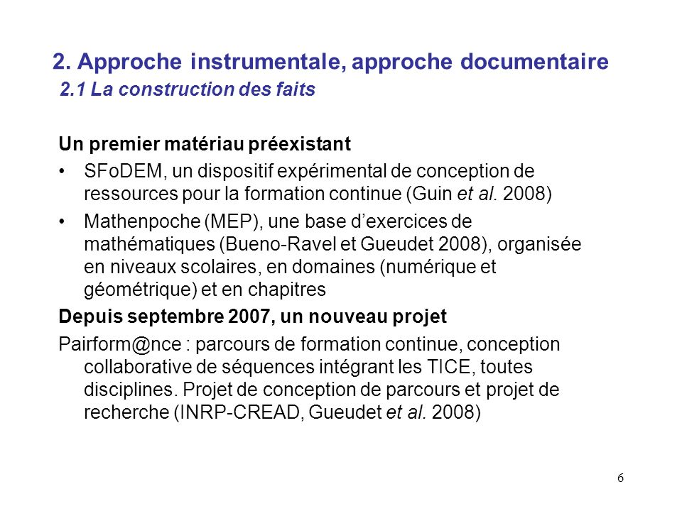 17 Approche documentaire, questions ?
