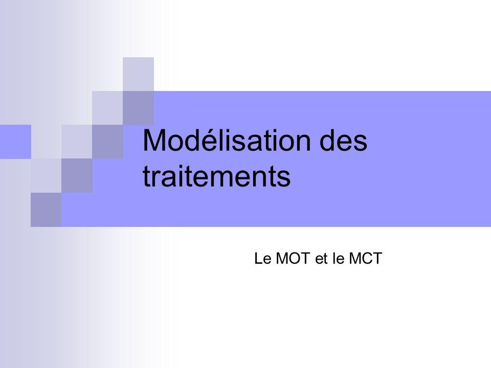 Modélisation des traitements Le MOT et le MCT