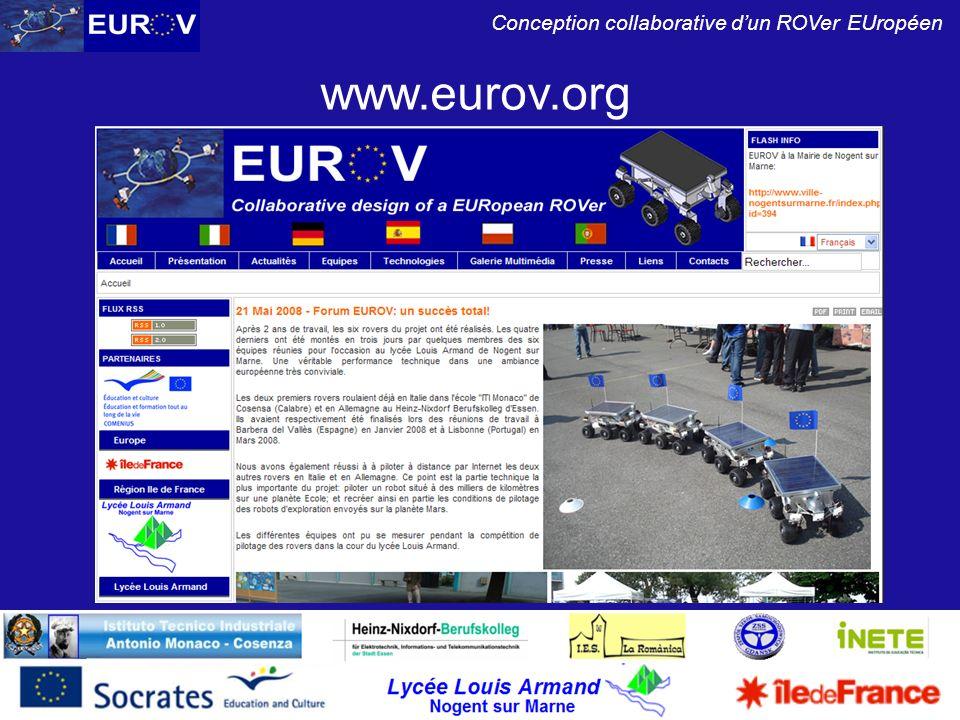 Lycée Louis Armand Nogent sur Marne Conception collaborative dun ROVer EUropéen www.eurov.org