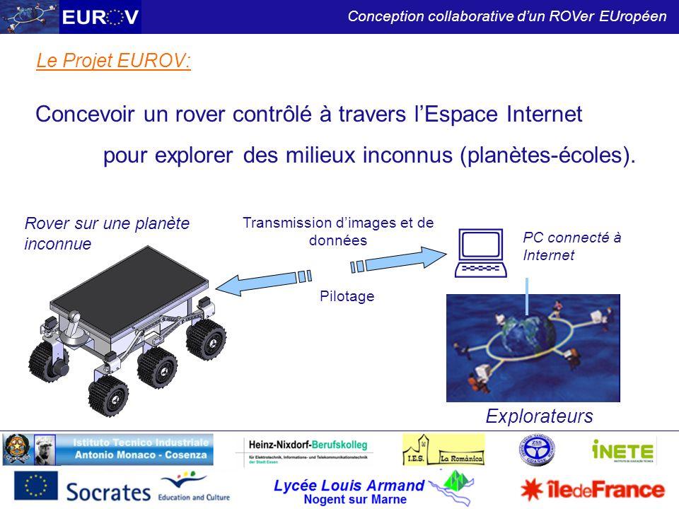 Lycée Louis Armand Nogent sur Marne Conception collaborative dun ROVer EUropéen Le Projet EUROV: Concevoir un rover contrôlé à travers lEspace Interne