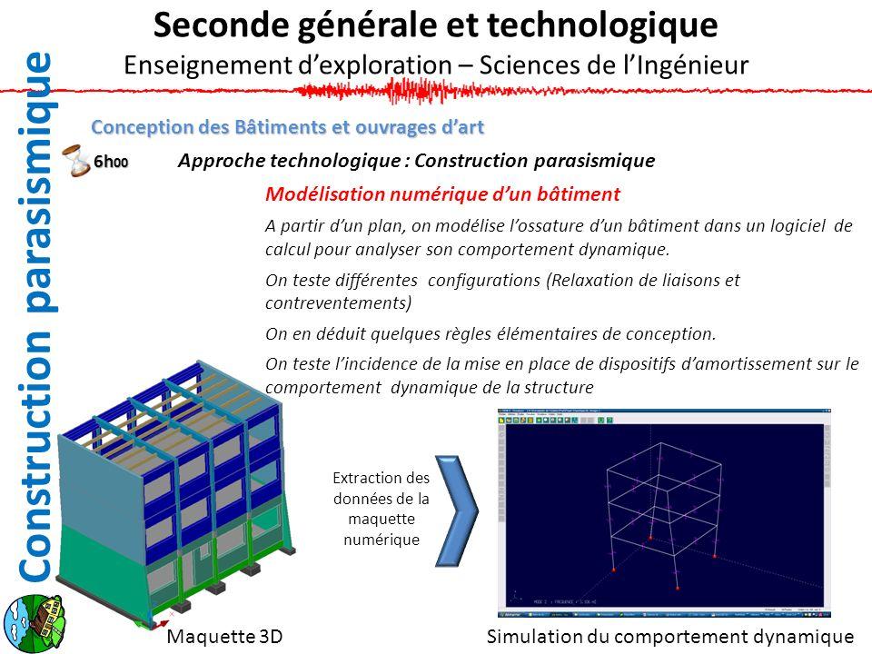 Conception des Bâtiments et ouvrages dart Approche technologique : Construction parasismique Modélisation numérique dun bâtiment A partir dun plan, on