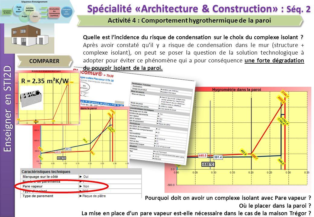 Enseigner en STI2D COMPARER Spécialité «Architecture & Construction» : Séq.