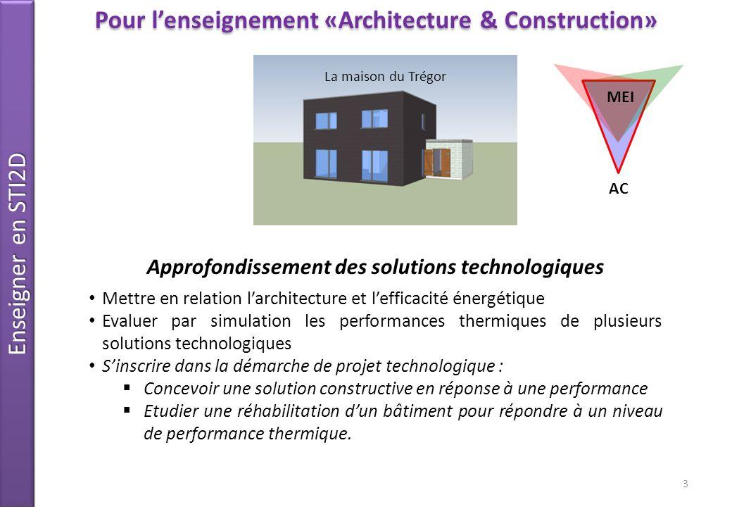 Enseigner en STI2D Objectif de formation O7 - Imaginer une solution, répondre à un besoinConnaissancesConception bioclimatique Compétences CO 7 - Participer à une étude architecturale, dans une démarche de développement durable Situation-problème La forme architecturale de la maison du TREGOR est-elle optimisée au plan de lefficacité énergétique .
