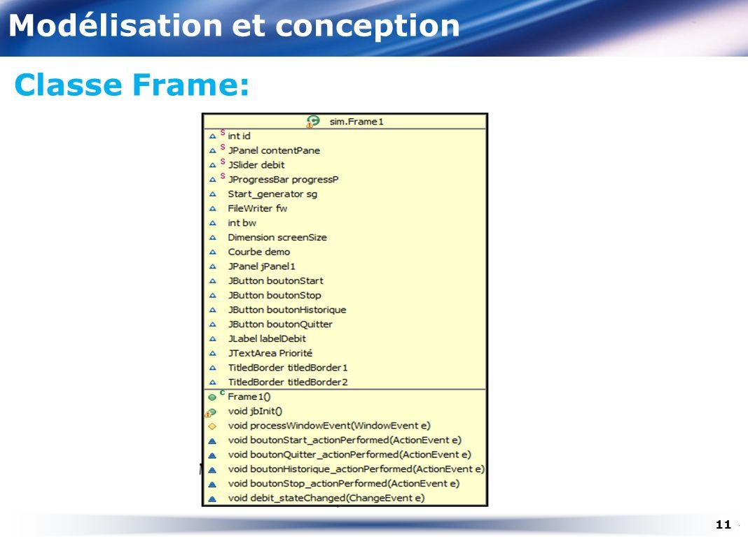 Modélisation et conception Classe Frame: 11