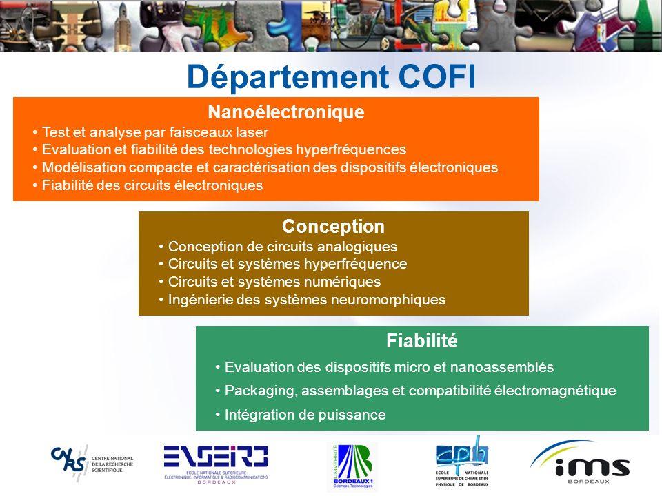 Département COFI Conception Conception de circuits analogiques Circuits et systèmes hyperfréquence Circuits et systèmes numériques Ingénierie des syst