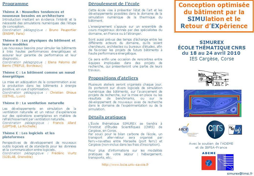 Comité Scientifique M.Pons (Président) F. AllardA.