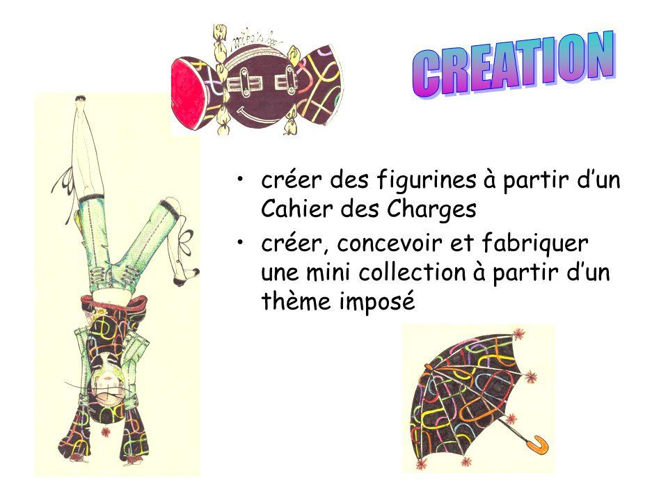 créer des figurines à partir dun Cahier des Charges créer, concevoir et fabriquer une mini collection à partir dun thème imposé