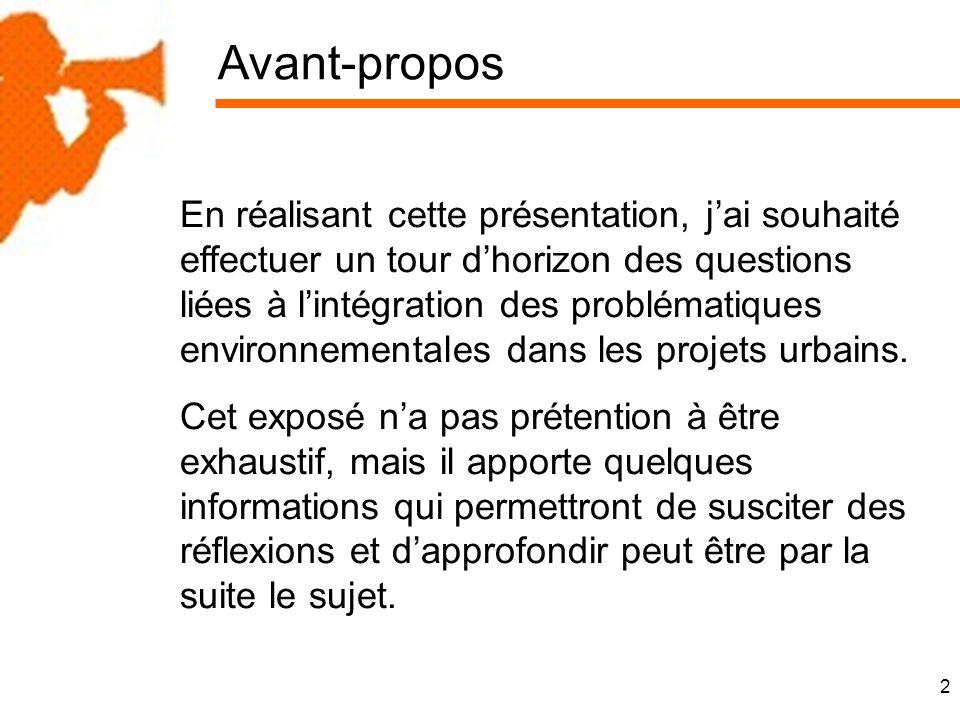 3 Plan de la présentation Introduction 1.La planification urbaine : SCOT, PLU et environnement 2.
