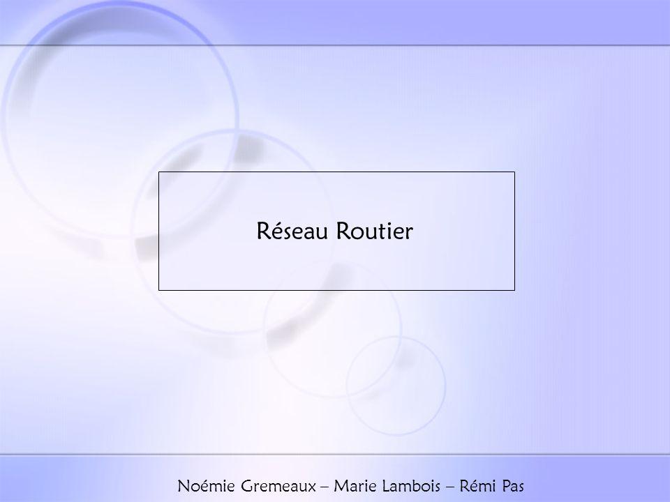 Réseau Routier Noémie Gremeaux – Marie Lambois – Rémi Pas